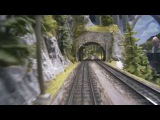 Cab ride on Mr. Porsche 's very large model train layout