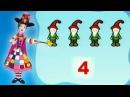 Matematică - Numărare obiecte: 4 pitici, pentru copii