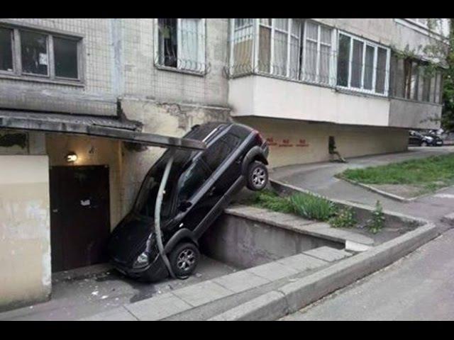 Парковка уровень БОГ Осторожно бабы за рулем
