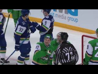 Igor Bobkov stops Afinogenov at the final seconds of the ASG Final Game