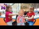ВЛОГ Дети играют в Парке Развлечений катаются с горок С Куклой Беби БОРН Видео д ...