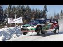 Сумасшедшая зимняя ралли гонка 2017 на Форд Фиеста Crazy Winter Rally Race 2017 at Ford Fiesta