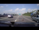 Как водители утку через дорогу переводили