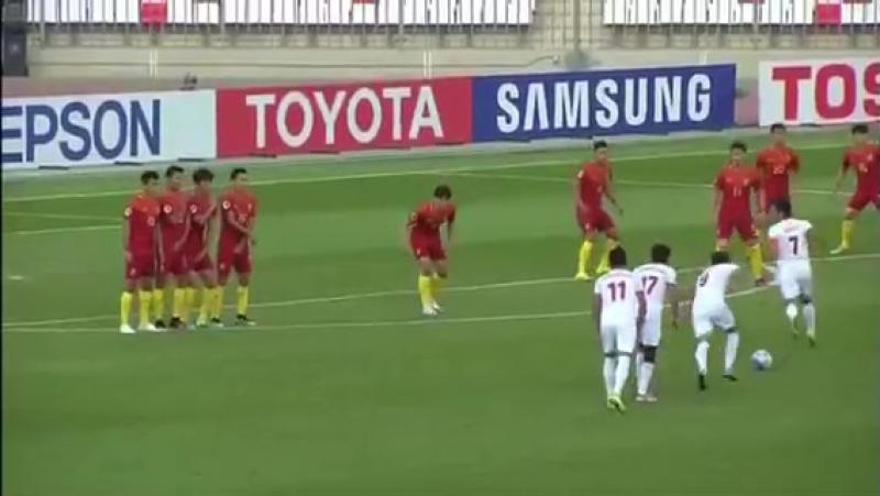 Гол Эхсони Панчшанбе в ворот молодёжной сборной Китая (U-19) на чемпионат Азии -2016(19)