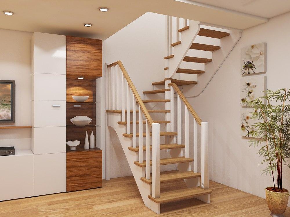 фото лестниц в частном доме из дерева