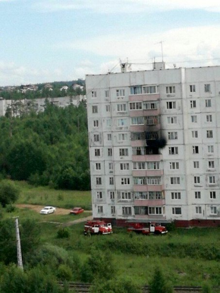 Пожар в Усть-Илимске 11.07.2017