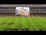 The Camp Nou salutes Lionel Messi for Messi 500