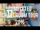 Completed Craft Room Tour! Disney Themed Pen Pal Planner Workstation!