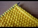 Кромка из двух петель при вязании спицами.