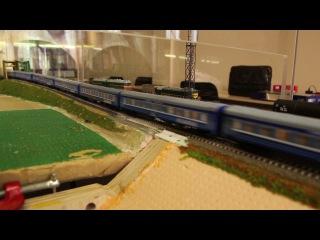 "Фирменный поезд ""Кама"" на модулях. 1:120"