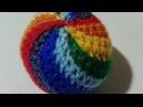 Радужный мячик. Rainbow Ball. Amigurumi. Crochet.