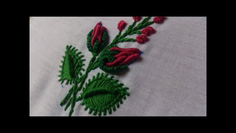 Hand embroidery tiny design for knot stitch