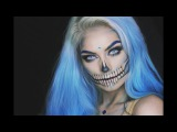 BLUE GLAM SKULL Halloween Makeup Tutorial