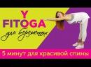 5 минут для красивой спины | FITOYOGA для беременных | Фитнес и йога дома