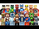 New LEGO Minecraft Skin Pack 1 2 plus DC Marvel Super Heroes Minifigures