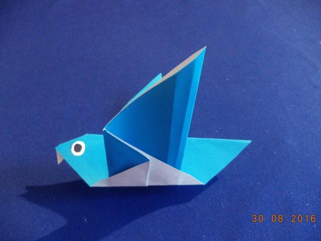 Птичка из бумаги How To Make an Origami Flapping Bird