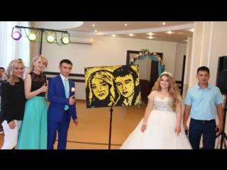 Звездное шоу - портрет блестками на свадьбе!г. Стерлитамак