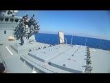 Министерство обороны России опубликовало видео пуска крылатых ракет Калибр-НК из восточной части Средиземного моря