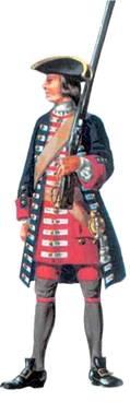 Вооружение пехоты в начине XVIII века состояло из ружей, шпаг, пистолетов, пик и алебард