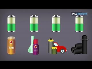 Утилизация батареек, или Как их превращают в соли, железо и графит