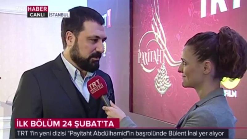 """TRT 1in Yeni Dizisi """"Payitaht Abdulhamit""""in Başrol Oyuncusu Bülent İnal ile Kısa Röportaj"""
