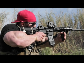 Flex Lewis Trains With A Navy SEAL