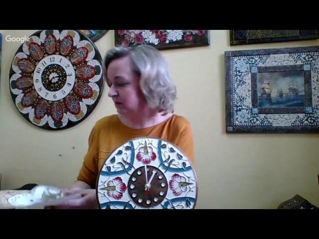 Роспись часов в технике Имитация перегородчатой эмали