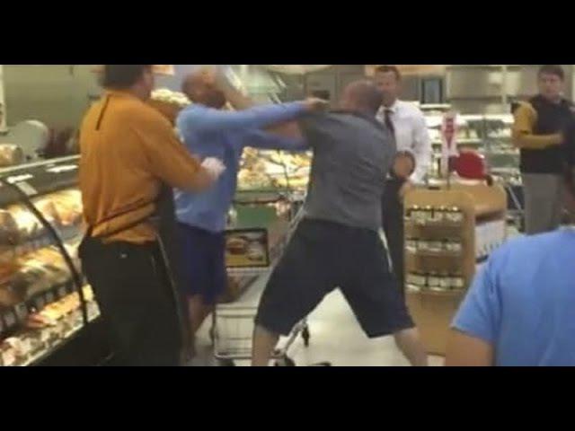Быдло магазинное Самые жестокие драки в магазинах 2017