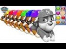 Learn Funny Colours With Dog PAW Patrol Rubble Best Animation For Children