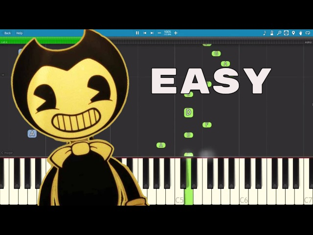 How to play Bendy and the Ink Machine Song - EASY Piano Tutorial - Build Our Machine - DA Games