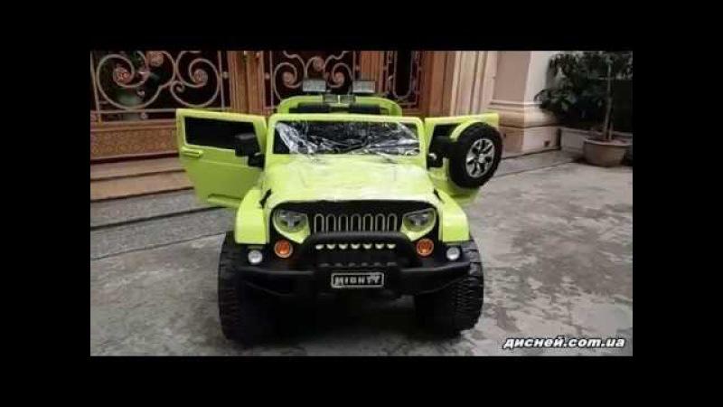 Детский электромобиль ДЖИП M 3445 EBLR-5, мягкое сиденье, зеленый - дисней.com.ua