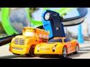 Vidéo en français pour enfants de voitures de course jeux de plage