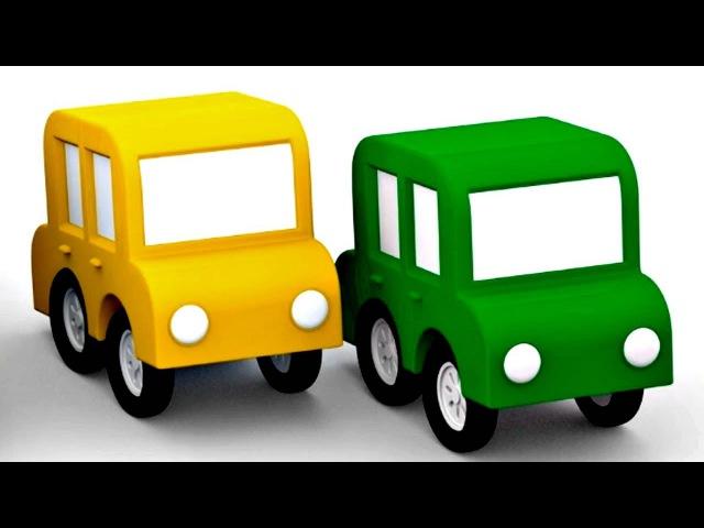 Dessin animé pour enfants de 4 voitures. Le code de la route