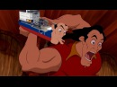 Gaston but every time someone gets injured it's emphasized and shows gaston eating 4 dozen eggs