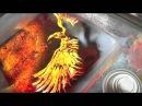 Spray paint Art by Brent Willis PHOENIX FEATHER X