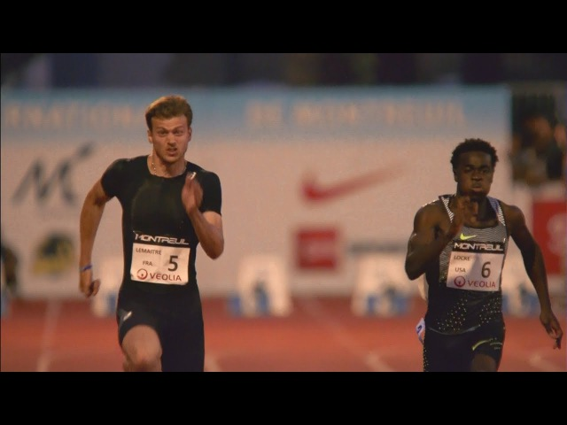 Christophe Lemaitre wins Men's 100m in Montreuil 2017 1080p