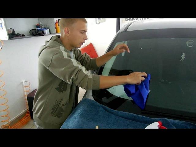 Как удалить трещину на лобовом стекле автомобиля своими руками