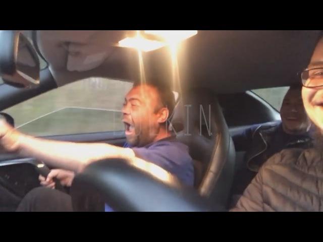Димана прокатили на Nissan GT-R 300 км/ч. Заминированный тапок!