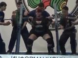 Юлия Зауголова приседает 275 кг