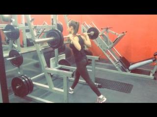 Марина Аксенова - выпады 50 кг свой вес 42,5