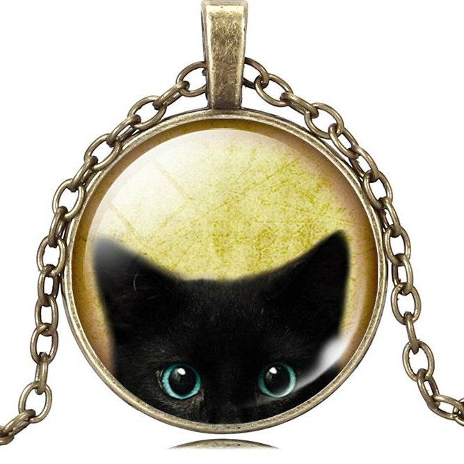 Классные Медальончики с Чрными кошками 48 руб