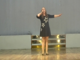 Полина выступает на Между народном конкурсе