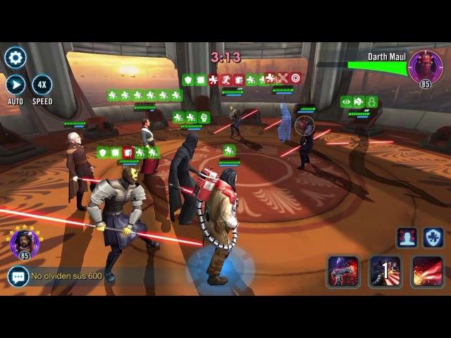 SWGOH Arena Nihilus , Zavage, Chaze , dooku vs. Zaul, SA, EP, Zavage Star Wars Galaxy of Heroes
