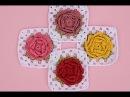 Cuadro de flores a crochet gramy square tutorial pasoapaso