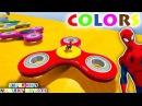 Color Fidget Spinner McQueen Cars with Spiderman Superheroes Cartoon Superheroes for Babies Kids