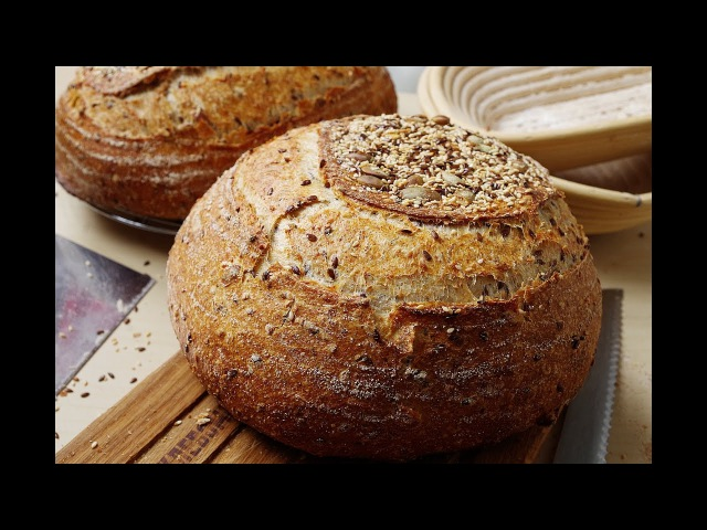 Хлеб с семенами на закваске (Джеффри Хамельман)