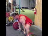 Дэн Грин, тяга 245 кг на 8 раз