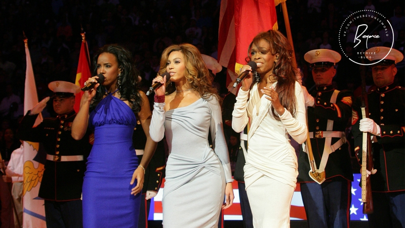 Destiny's Child - National Anthem USA (NBA All Star Game) [2006]