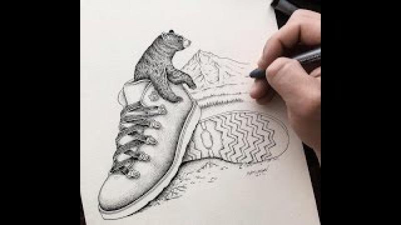 Drawing illustration art work by sam larson 1