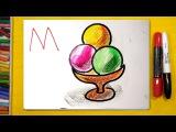 Рисуем Алфавит  Буквы Л М Н О  Урок рисования для детей